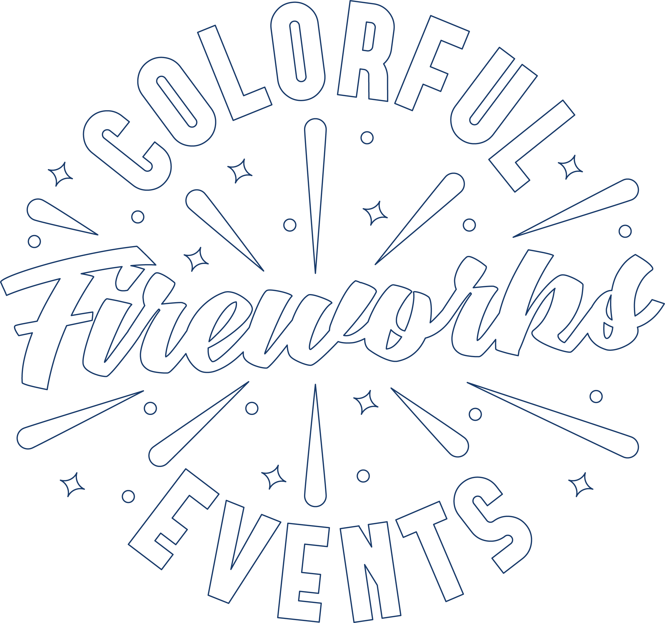 Colorful Fireworks Events